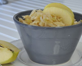 Microwave Cabbage & Onion with Apple & Ginger
