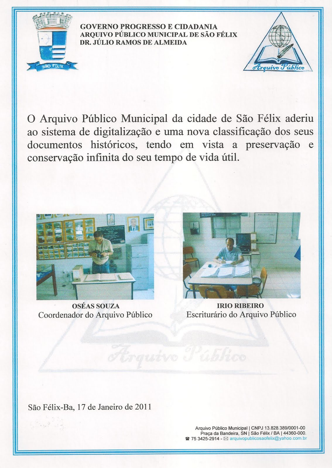 Preservação Do Património Natural: Arquivo Público Municipal: GARANTINDO A CONSERVAÇÃO E