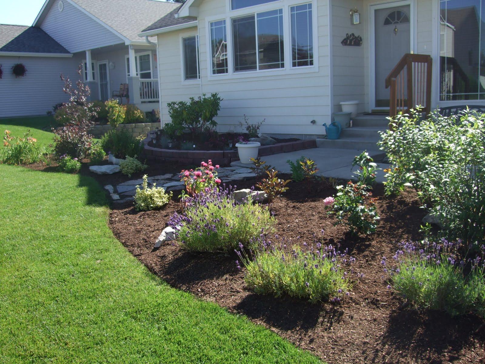 the folks at home front yard landscaping. Black Bedroom Furniture Sets. Home Design Ideas