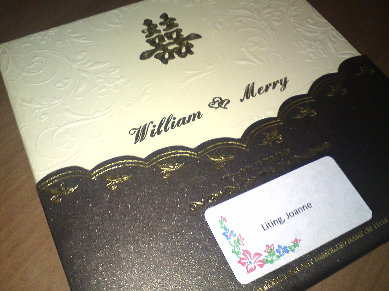 Li Ting S Alon3 Wedding Reception Invitation Card