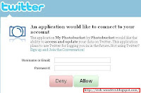 my-photobucket application by photobucket will access and update your data on twitter