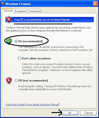 Turn ON Windows Firewall to Protect Your Computer Against Viruses and Worms