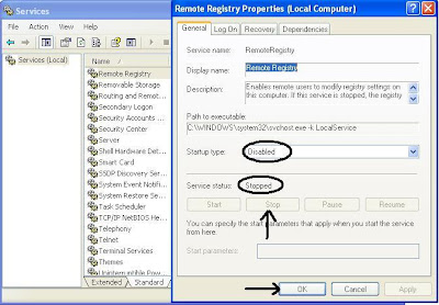 "Disable the ""Remote Registry"" service in Windows to prevent unauthorized changes to the system registry on your computer 2"