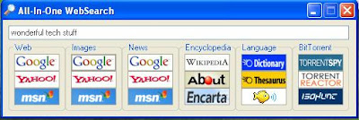 Search Multiple Search Engines For Results With All-In-One WebSearch