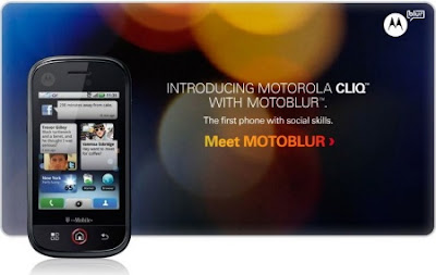 MOTOROLA CLIQ with MOTOBLUR