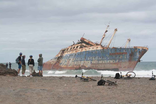 The wreck of the American Star, Fuerte ventura, Canary