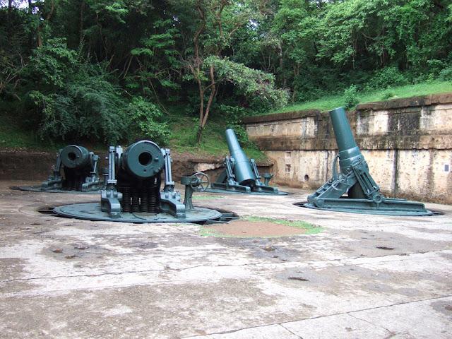 Abandonned buildings at the Pacific War Memorial, Corregidor