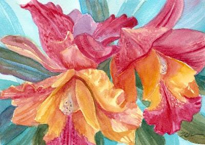 Zeh Original Art Blog Watercolor And Oil Paintings Hawaii Orchids