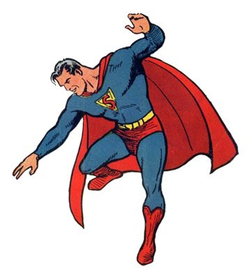Superman created by Jerry Siegel and Joe Shuster.