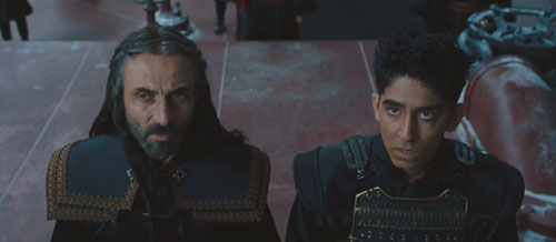 Iroh (Shaun Toub) and Zuko (Dev Patel).
