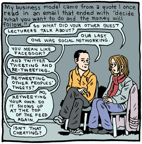 The Comics of Business by Gabrielle Bell.