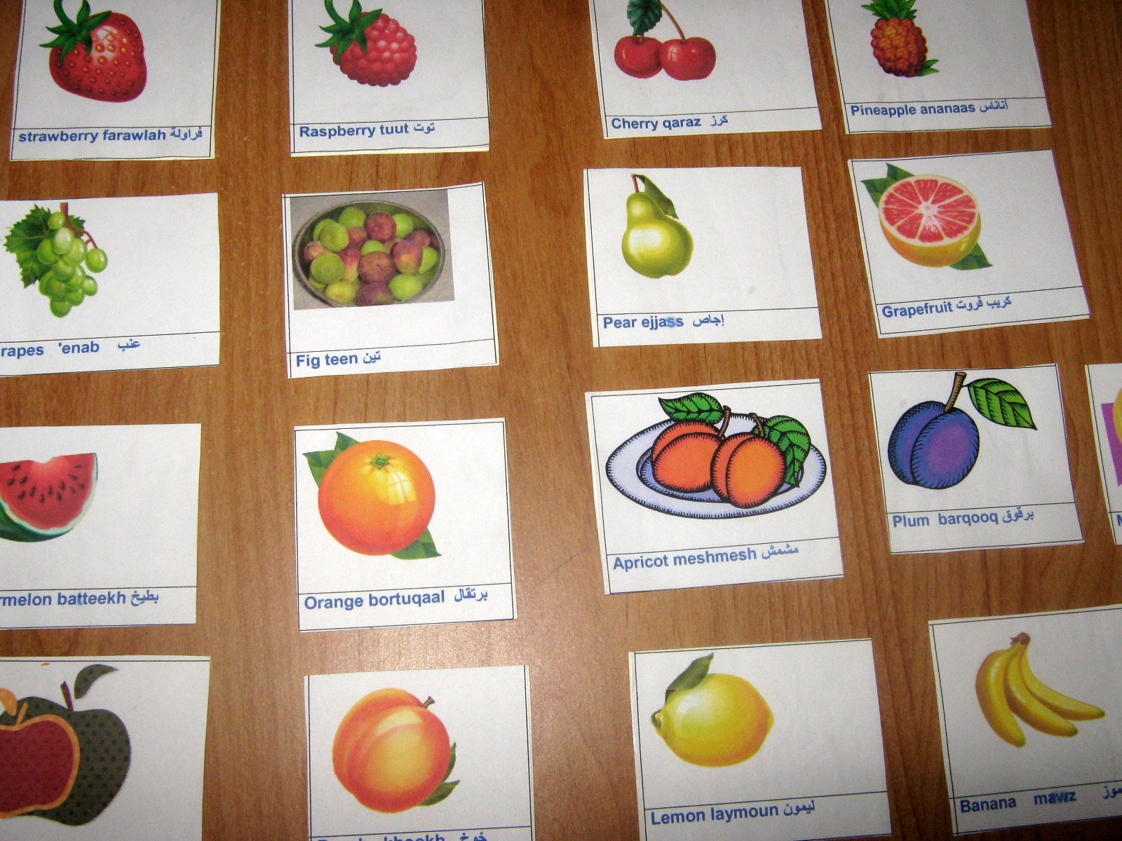 Names Of Fruits And Vegetables In English