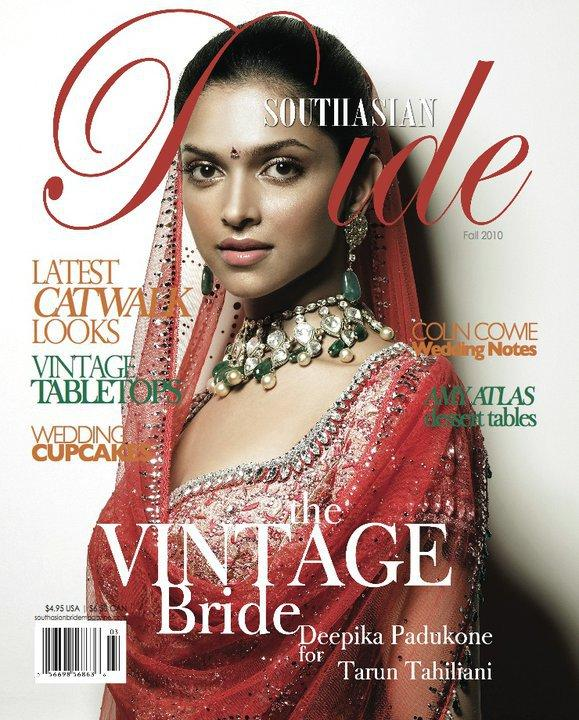 magazine and asian woman bride