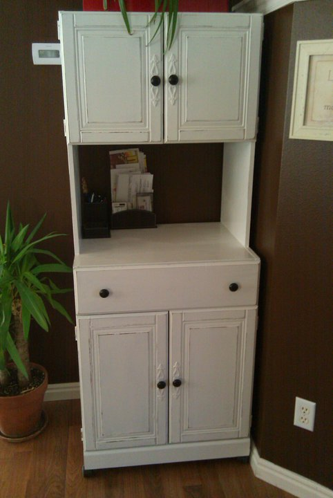 Paint Me Shabby Microwave Stand Turned Bill And Junk