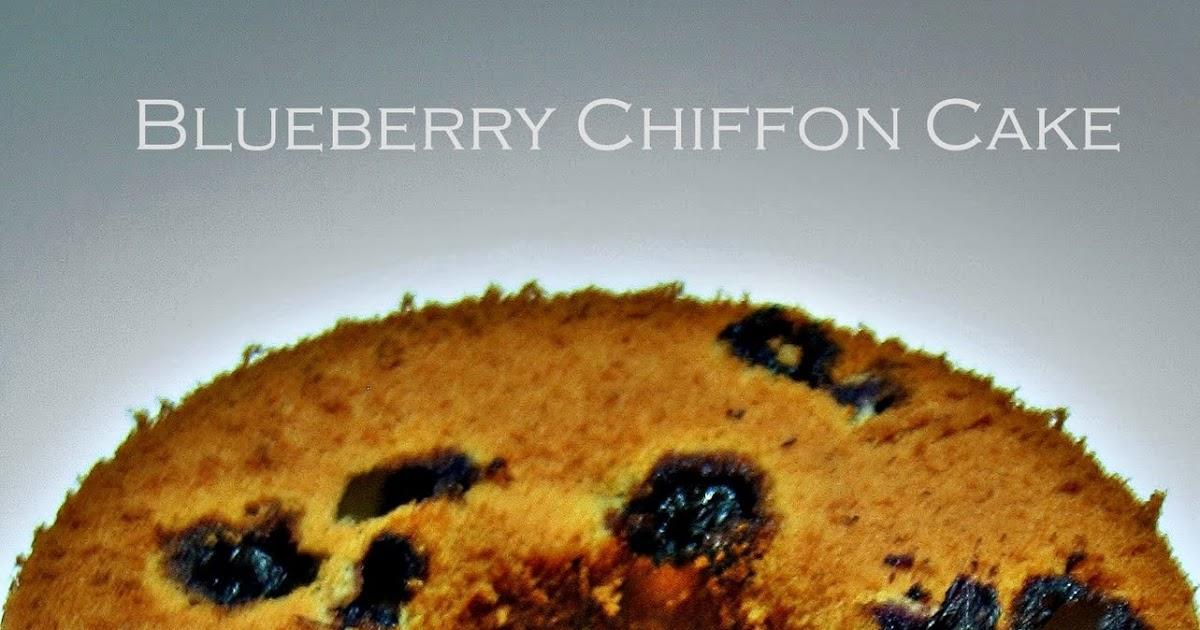 Blueberry Chiffon Cake Recipe