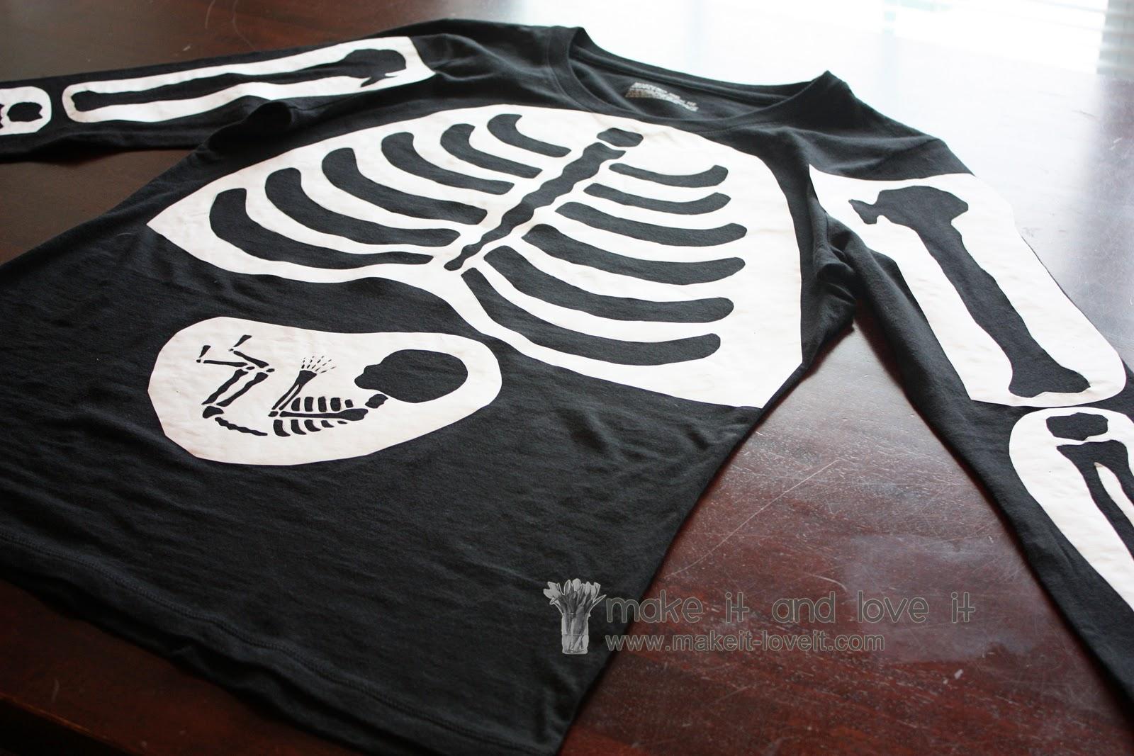 Diy maternity skeleton shirt find it, make it, love it.