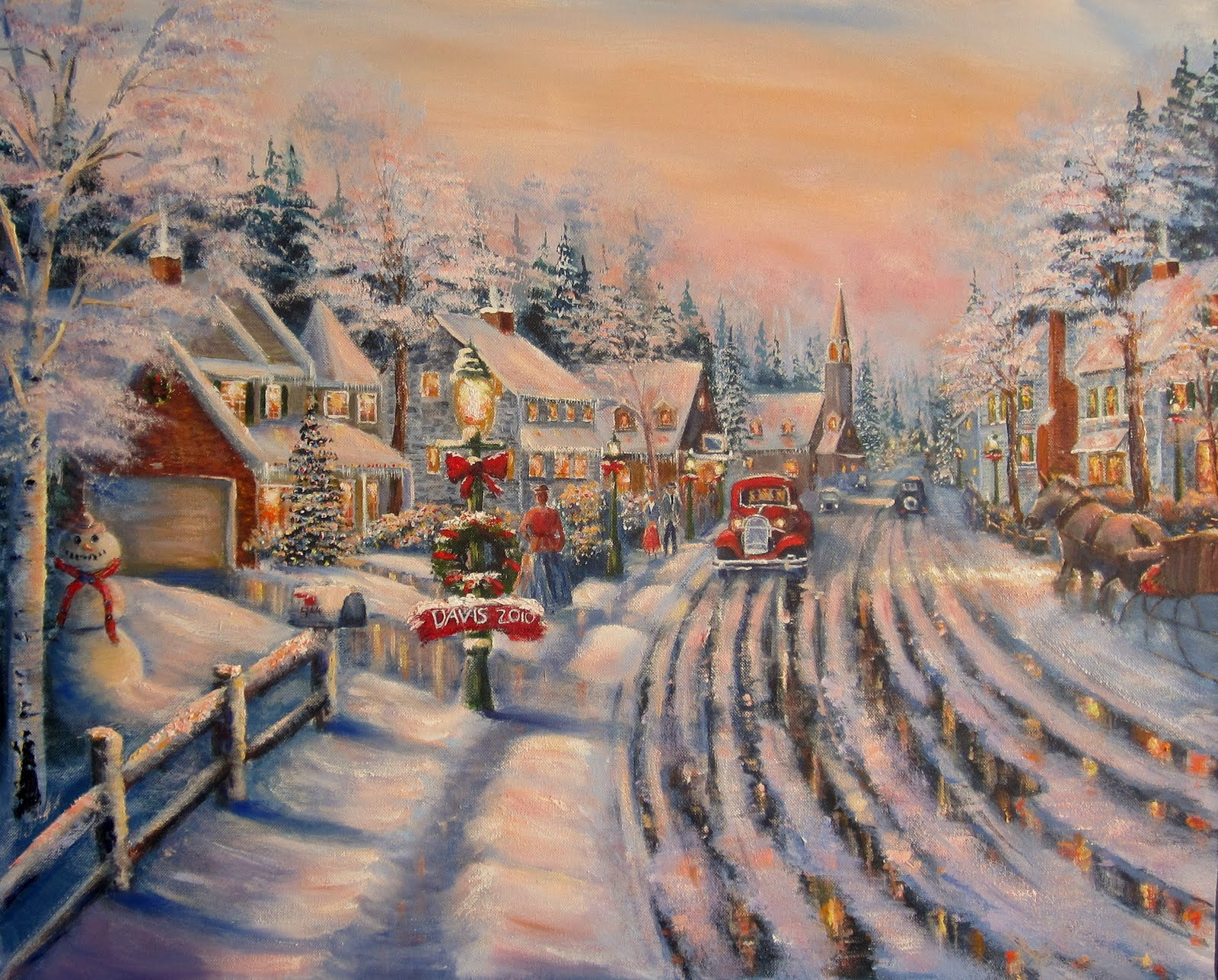 Davis galleries landscape art for Christmas images paintings