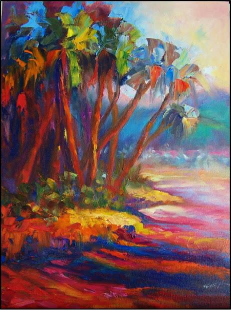 Tropical Palm Tree Paintings