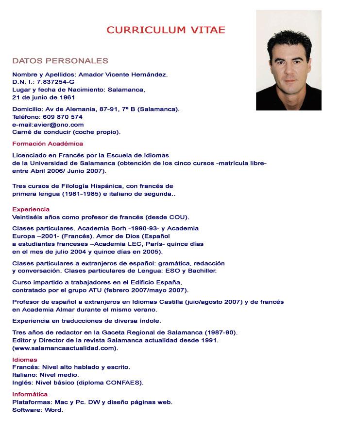 Ejemplo De Curriculum Vitae De Estudiante Sample Resume Service