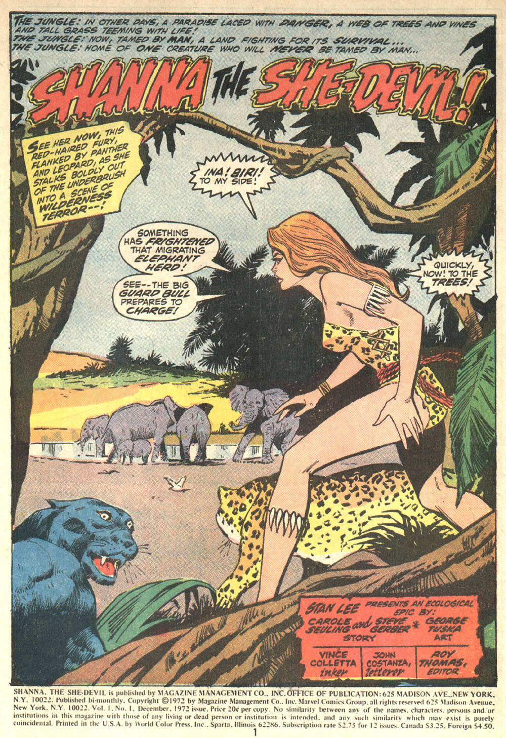 Read online Shanna, the She-Devil (1972) comic -  Issue #1 - 2