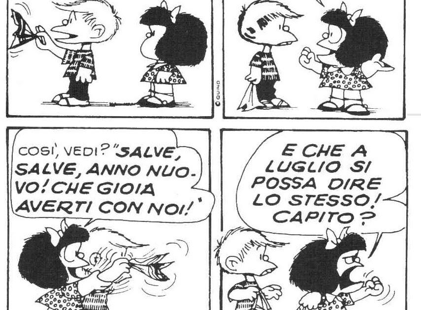 Lora Del Mio Caffe Lanno Nuovo Di Mafalda