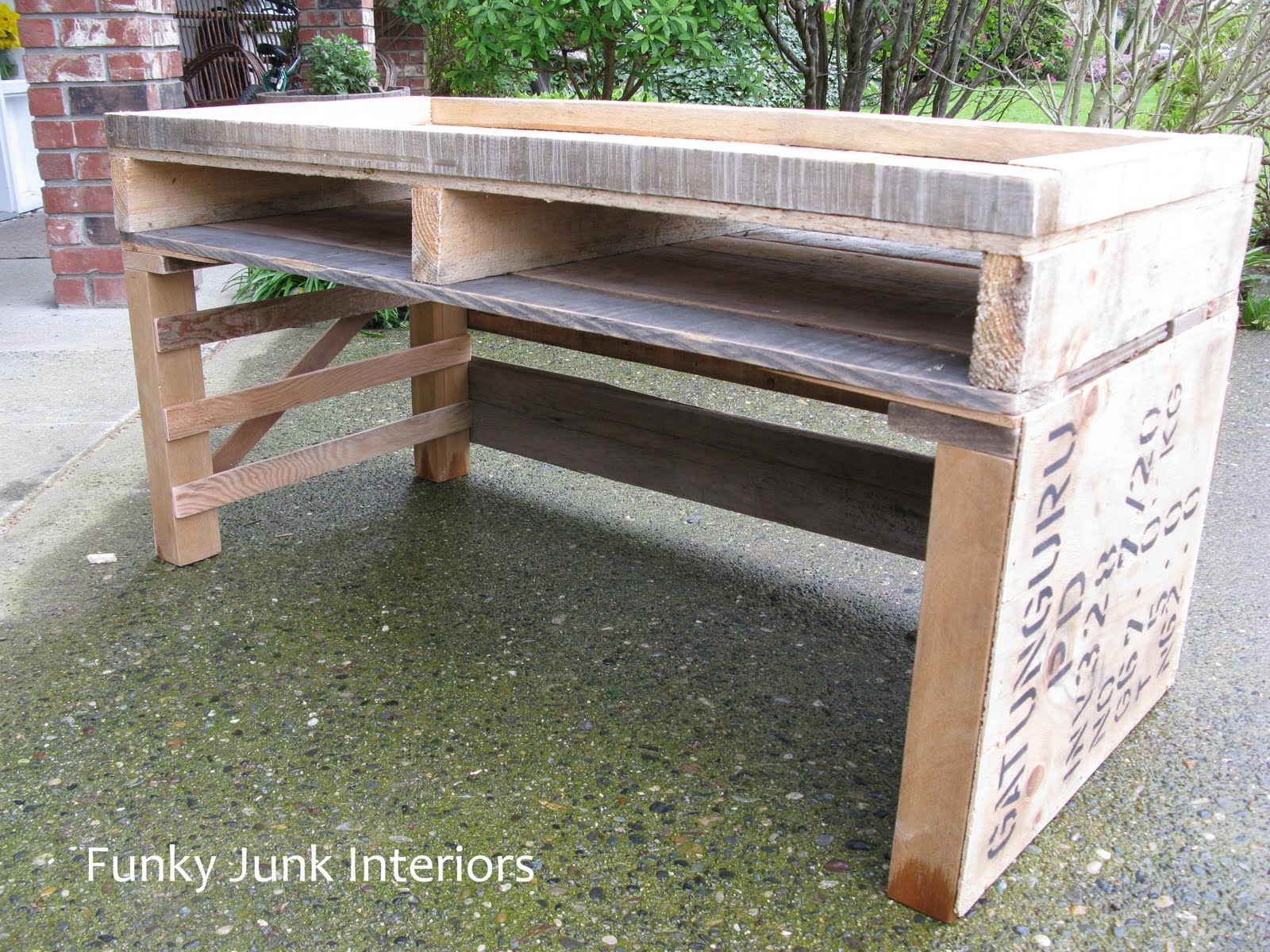 Pallet Tv Stand Part - 49: Building A Pallet Tv Stand With Reclaimed Wood