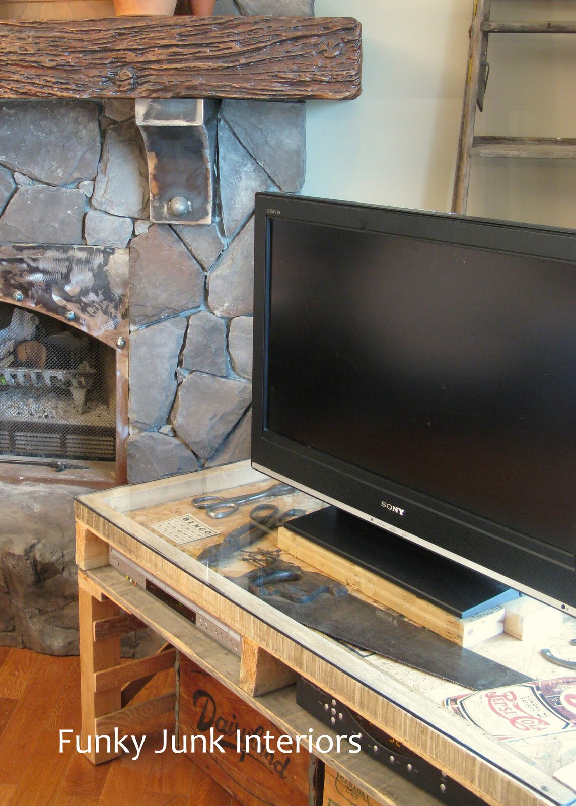 New TV Stand Made From A PalletFunky Junk Interiors
