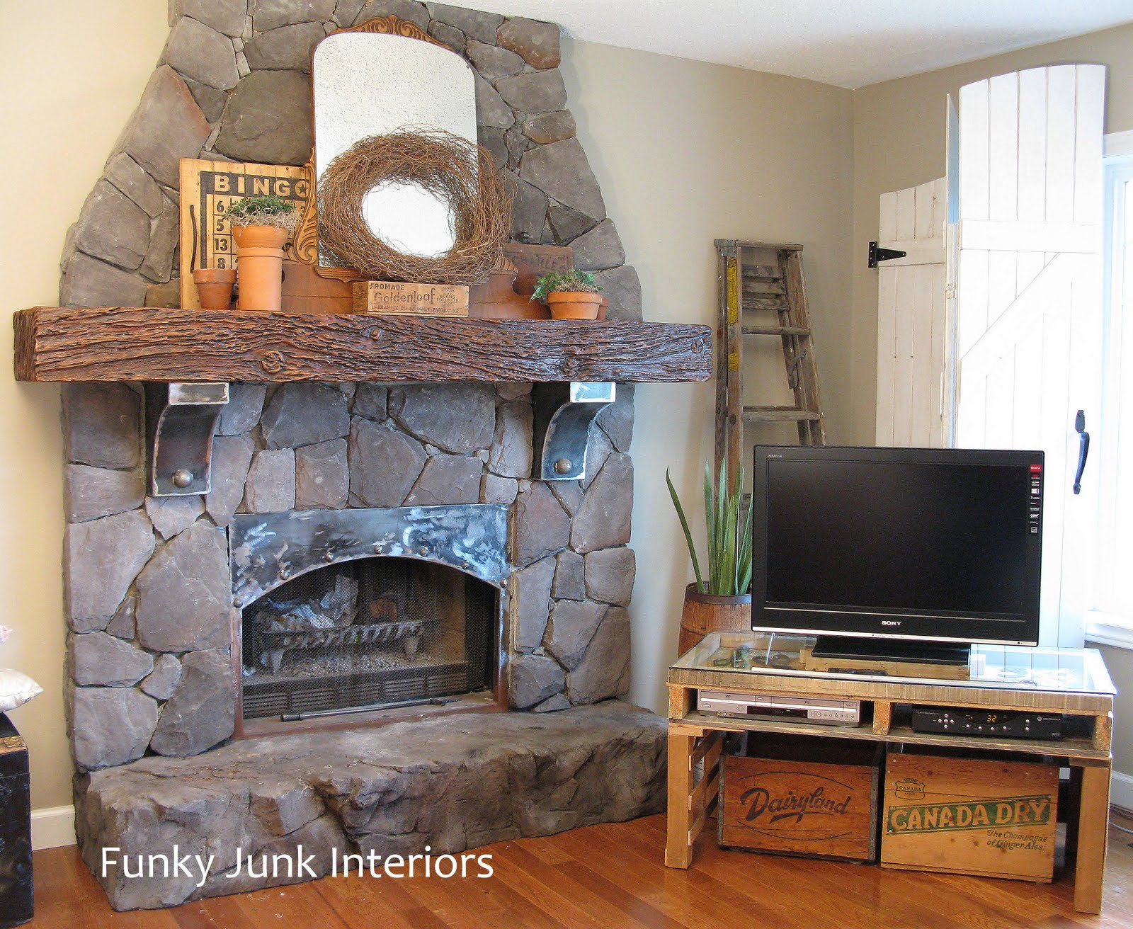 What  Creating an old world cultured stone fireplace without