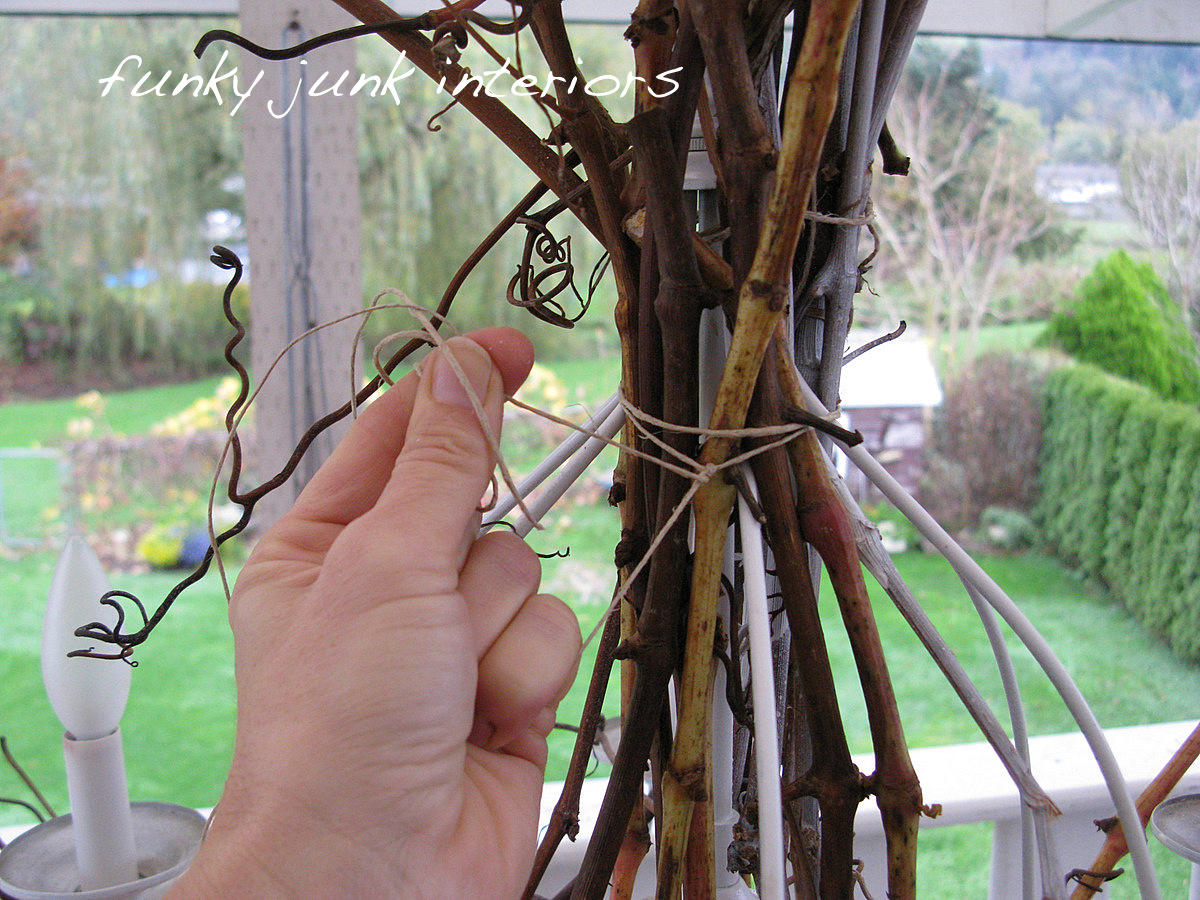 Lighting up my life with a white twig chandelierfunky junk interiors white twig chandelier from willow branches and grapevines via funky junk interiors aloadofball Image collections