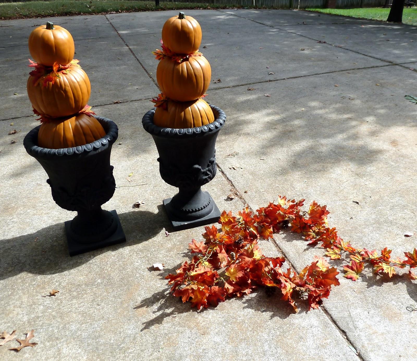 Pumpkin Front Door: A Fall Front Door (Pumpkin Topiary Tutorial)