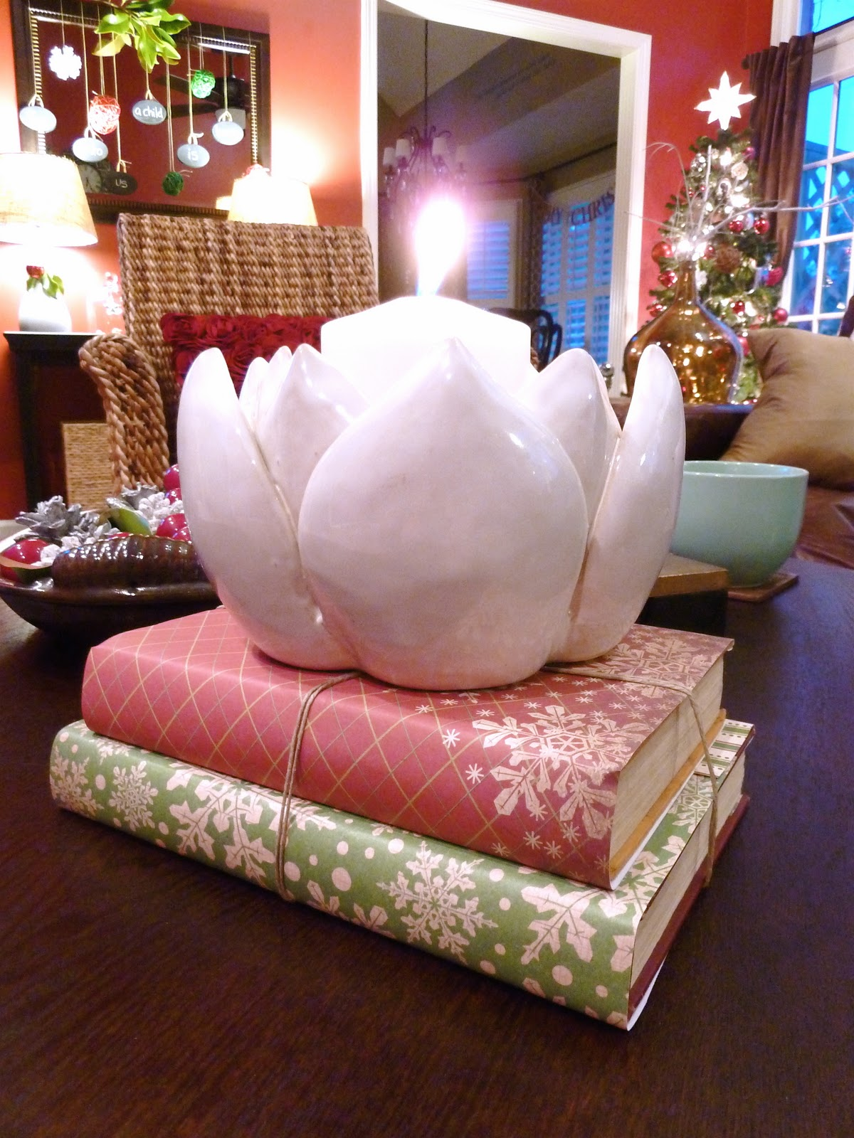 Scrapbook paper booklet - I Tied Them Up With A Little Twine And Placed My Lotus Flower Candle Holder Arhaus 30 Off Sale On Top So Easy So Simple So Sweet
