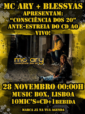 "MC ARY | SINGLE do CD ""consciencia dos 20"""