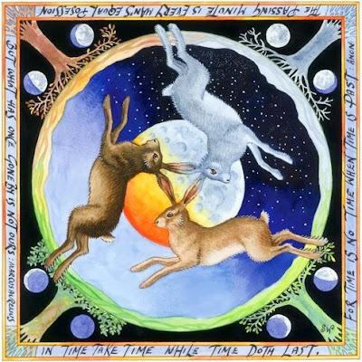 Sue Wookey Art Blog Three Hares Go Round And Round