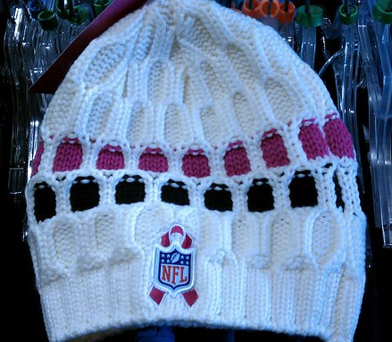 a9d3a68bd hermione j. schwartz  NFL Breast Cancer Awareness Knit Beanie   Free ...