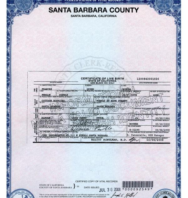 Get A Copy Of Birth Certificate