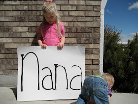 simple mothers day gift picture collage child with poster nana