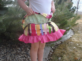 2 layer girls skirt with ribbon