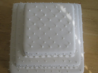 Wedding Cake with Dots and Pearls