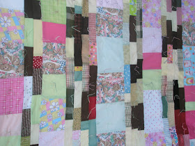 Humanitarian scrappy strip quilt twin size