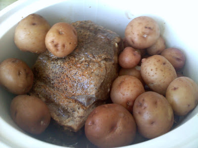 pork roast and potatoes