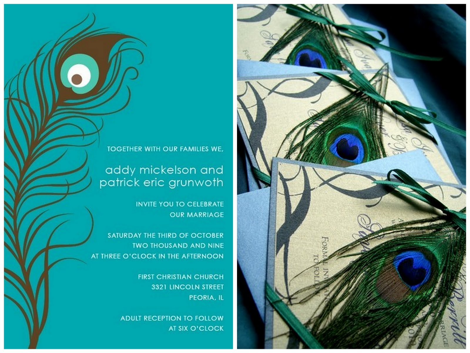 Peacock Feather Wedding Invitation: Always Andri Wedding Design Blog: Adorable Finds: Jade