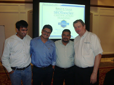 Kapil Nakra, Bruce Clay @ SEOToolSet Certification Training Gurgaon, India