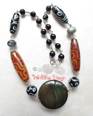 Re-wiring of this Chinese bead necklace