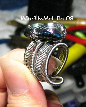 Adjustable wire woven ring