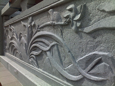 the wall carving at the Tua Pek Kong, one of the oldest temple/building