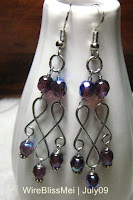Wire Wrapped Dangle Earrings