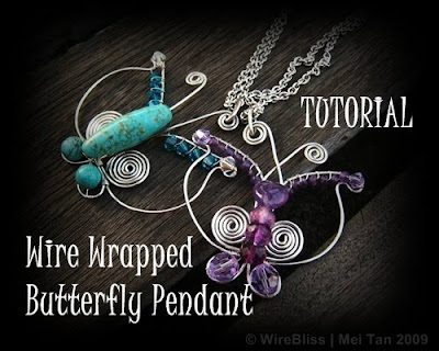 Wire Wrapped Butterfly Pendant Tutorial