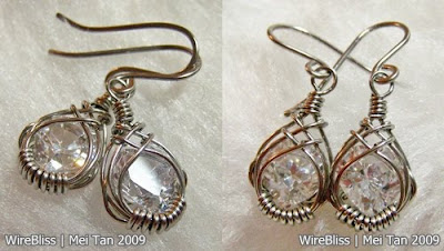 Wire Wrapped Caged Earrings