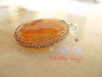 Netted Agate Pendant