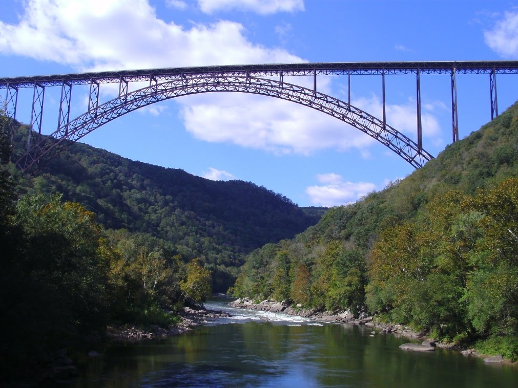 New River Gorge Bridge   New River Gorge Bridge Fall